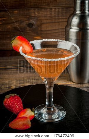 Alcohol Cocktail Strawberry Margarita
