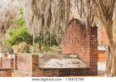 Brick Grave Colonial Park Cemetery Savannah Ga