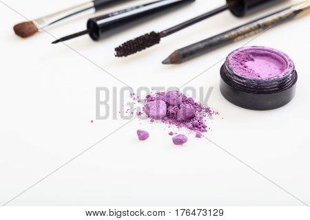 Eyes Makeup Set Isolated On White Background
