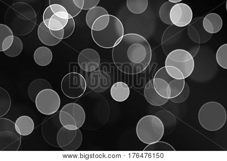 Abstract lights on black and white full background