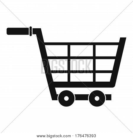 Large shopping trolley icon. Simple illustration of large shopping trolley vector icon for web