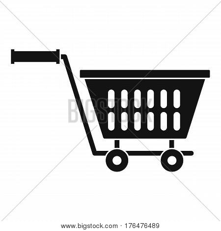 Plastic shopping trolley icon. Simple illustration of plastic shopping trolley vector icon for web