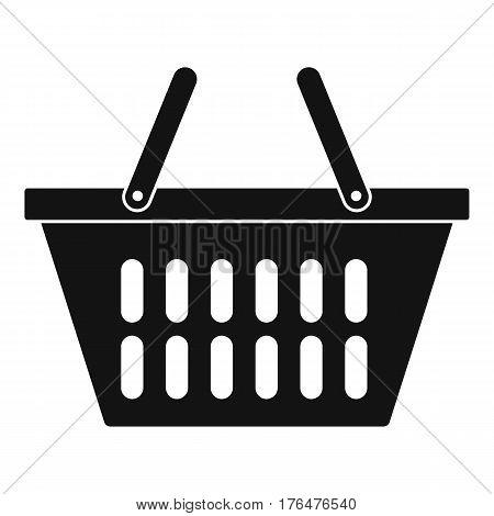 Plastic shopping basket icon. Simple illustration of plastic shopping basket vector icon for web