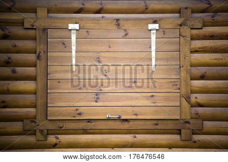 House of wood, wooden old village window,