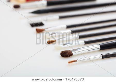 Makeup Brushes Set Isolated On White Background