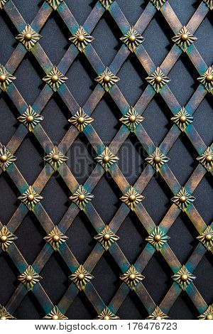magnificent wrought-iron gates ornamental forging forged elements close-up