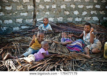 Mombasa. Kenya. January 26, 2012 Children of Africa