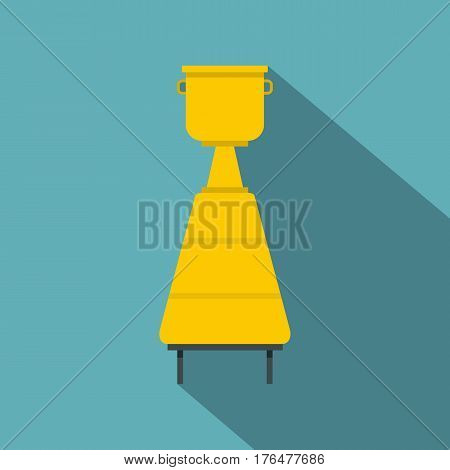 Equipment for the production of wine icon. Flat illustration of equipment for the production of wine vector icon for web isolated on baby blue background