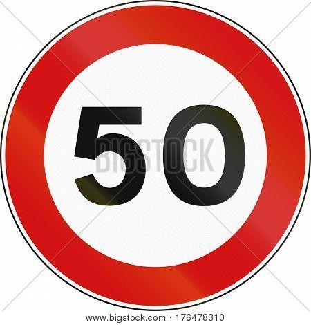Road Sign Used In Malta - Maximum Speed Limit