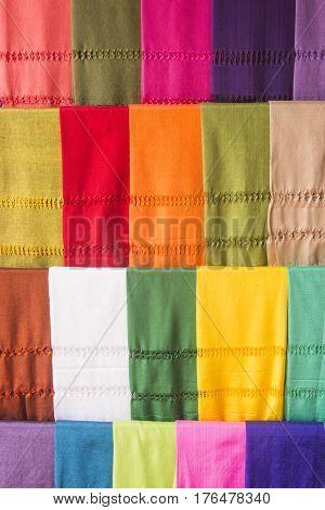 Mexican color rebozos from Santa María del Río