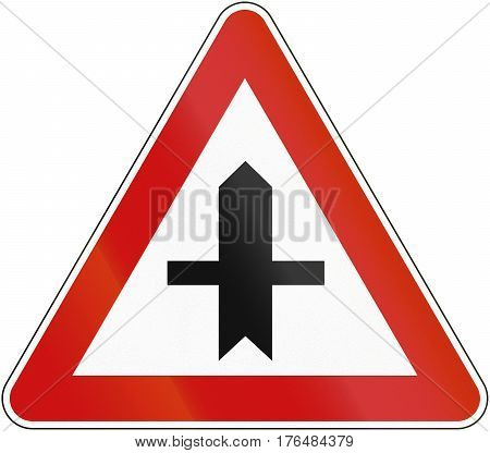 Croatian Regulatory Road Sign - Crossroads With Priority