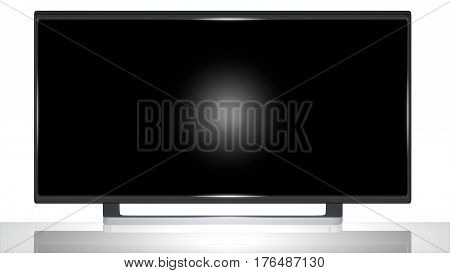 Realistic 3D TV Widescreen Screen Monitor. The blank screen of this monitor can be easily replaced with an image or a video of your choice, and used in compositing.