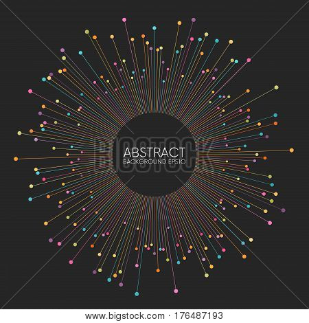 Abstract colorful thin lines background with place for your content. Vector illustration Eps 10