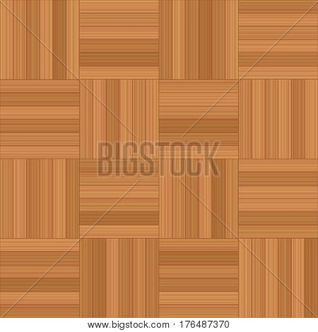 Mosaic parquet - vector illustration of square wooden floor pattern - seamless extensible in all directions.