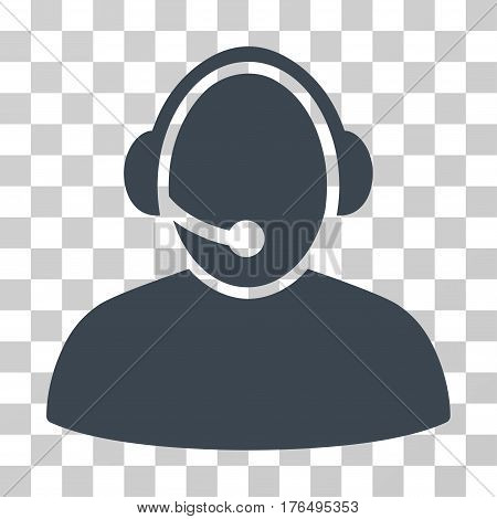 Call Center icon. Vector illustration style is flat iconic symbol, smooth blue color, transparent background. Designed for web and software interfaces.