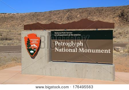 Petroglyph National Monument Entrance, Albuquerque, New Mexico