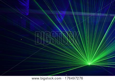 People Watching Laser Show