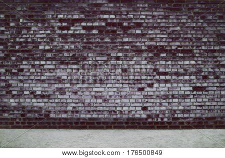 Dark street brick wall and floor background