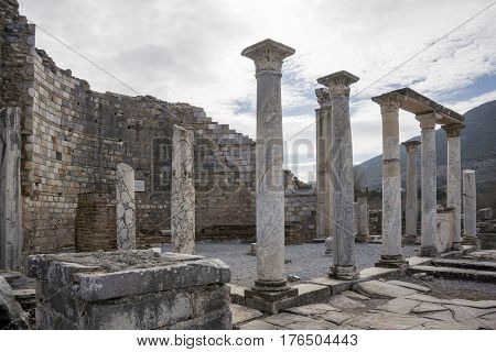 Unesco Heritage Site Of The Ancient City Of Ephesus, Selcuk, Turkey