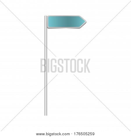 metallic blue direction board road signs vector illustration