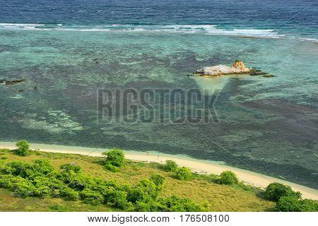 Coastline Of Kanawa Island In Flores Sea, Nusa Tenggara, Indonesia