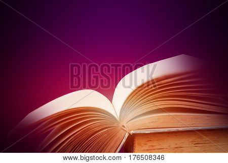Abstract magic light  for science and education or religion background