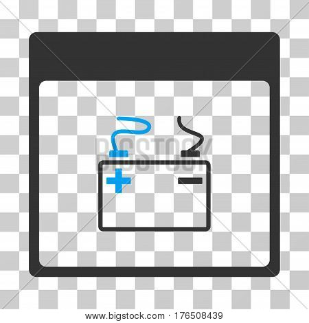 Accumulator Calendar Page icon. Vector illustration style is flat iconic bicolor symbol, blue and gray colors, transparent background. Designed for web and software interfaces.