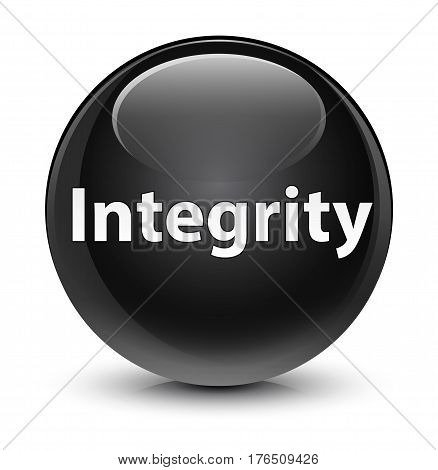 Integrity Glassy Black Round Button