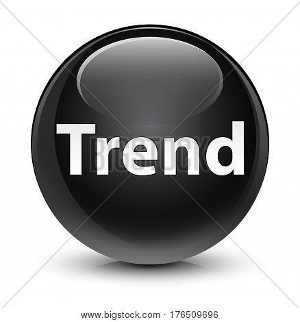Trend Glassy Black Round Button