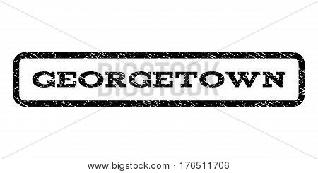 Georgetown watermark stamp. Text tag inside rounded rectangle with grunge design style. Rubber seal stamp with dust texture. Vector black ink imprint on a white background.