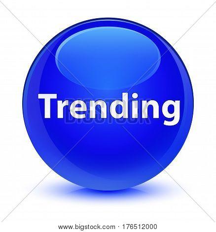 Trending Glassy Blue Round Button