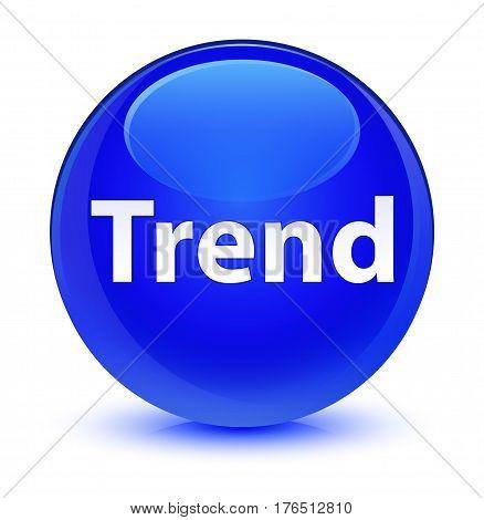 Trend Glassy Blue Round Button