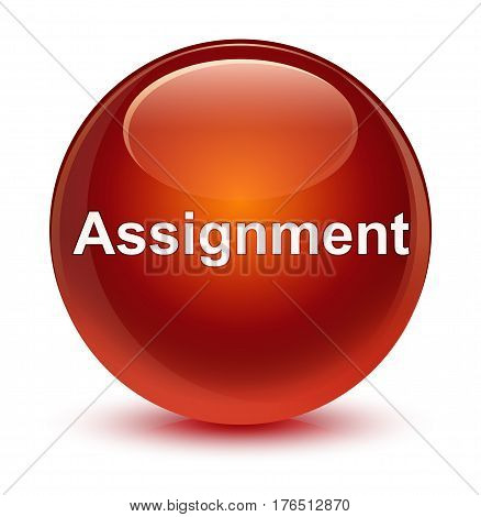 Assignment Glassy Brown Round Button