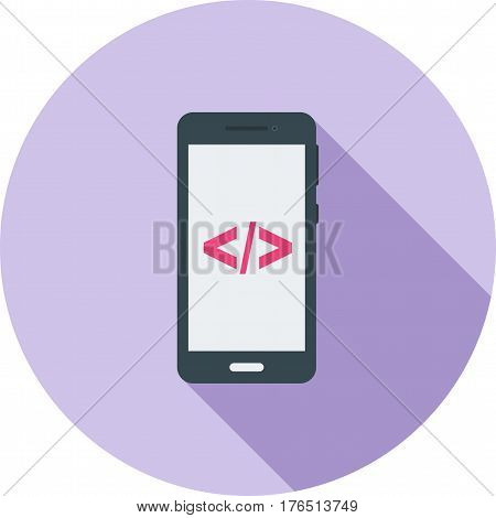Smartphone, mobile, phone icon vector image. Can also be used for smartphone. Suitable for mobile apps, web apps and print media.