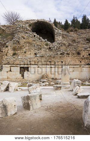 Baths of Varius in the ancient city of Ephesus Selcuk Turkey