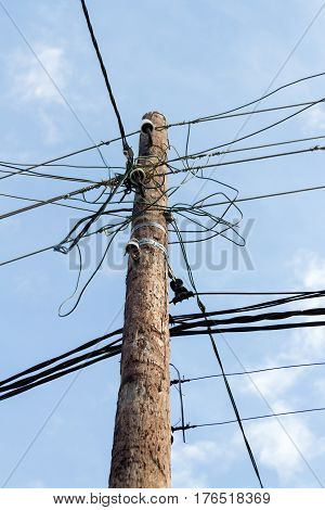Pole For Electric Wires