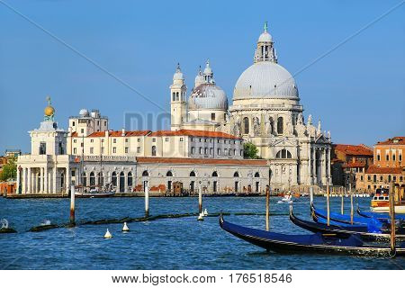 Basilica Di Santa Maria Della Salute On Punta Della Dogana In Venice, Italy