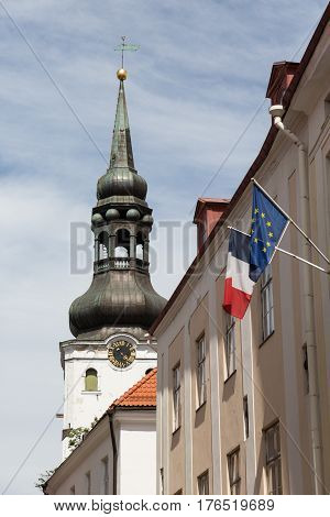 The Tower of St. Mary's Cathedral in Tallinn, Estonia
