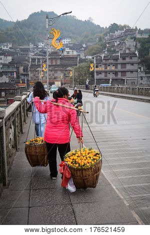Fenghuang (phoenix) Ancient Town In China