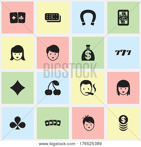Set Of 16 Editable Excitement Icons. Includes Symbols Such As Luck Charm, Boy, Stacked Money And More. Can Be Used For Web, Mobile, UI And Infographic Design.