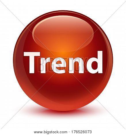 Trend Glassy Brown Round Button