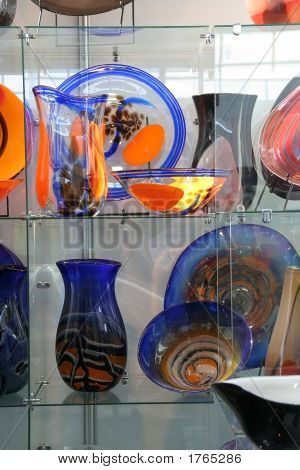 Colorful Vases Of Glass