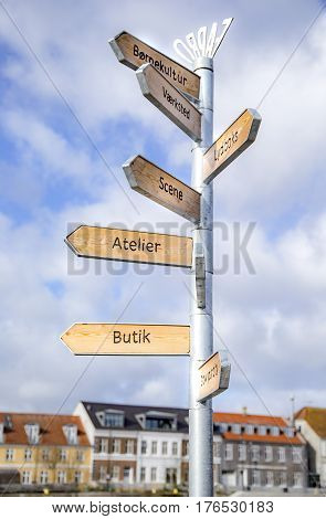 The city signs. Shot in Fredericia, Denmark