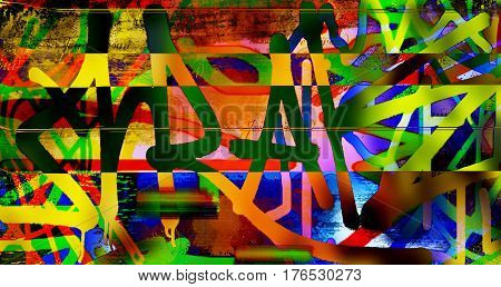 Abstract patterns, abstract symbols. Abstract background. Artwork. Art. Symbols. Patterns.