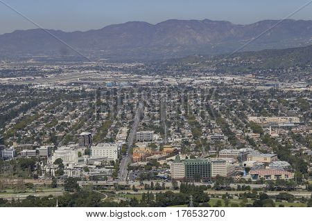 Aerial View Of The Burbank Aera