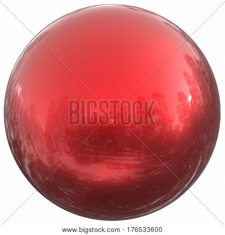 Sphere round button red ball basic circle geometric shape solid figure 3D