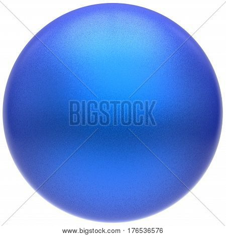 Sphere round blue button ball basic matted cyan circle geometric shape solid figure 3D