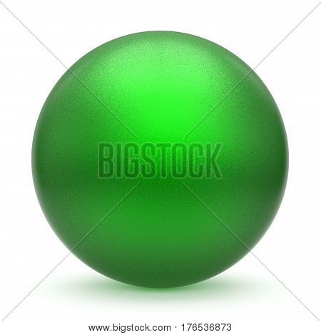 Sphere round button green matted ball basic circle geometric shape solid figure 3D