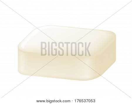 Bar of soap isolated on white. Easy recolored vector. Eps8. RGB. One global color