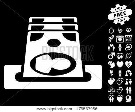 Payment Terminal icon with bonus amour icon set. Vector illustration style is flat iconic symbols on white background.